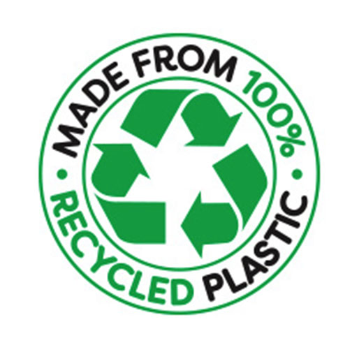100% recycled logo